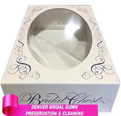 Carefully assembled Wedding Gown Storage Box